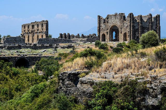 Aspendos, Old Town, History, Architecture, Buildings