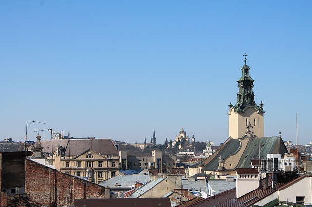 Architecture, Travel, Old, Sky, Old Town, Ukraine, Lviv