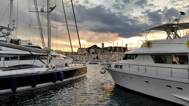 Boot, Cannes, Old Town, France, Port, Port City