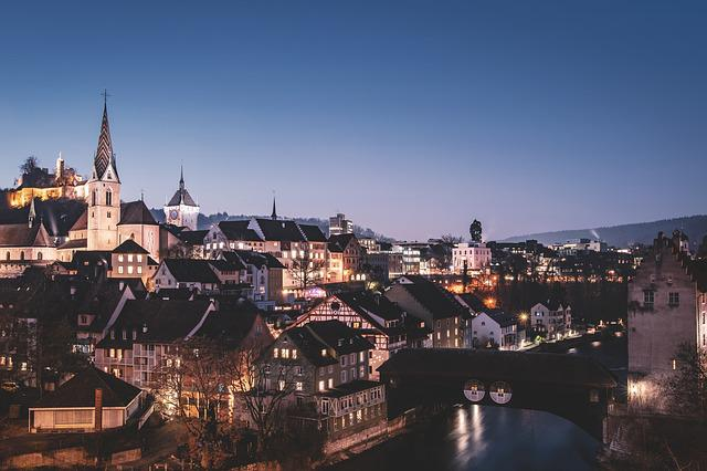 City, Old Town, Historic Old Town, Dusk, City ​​lights