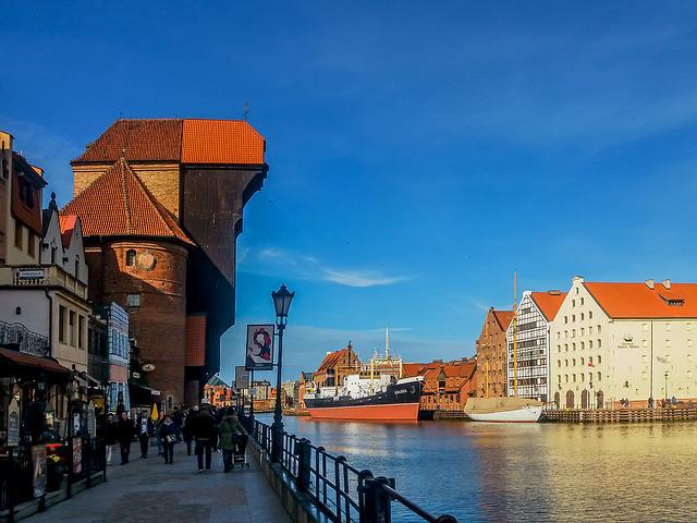Gdańsk, Crane, River, The Old Town, Old Town