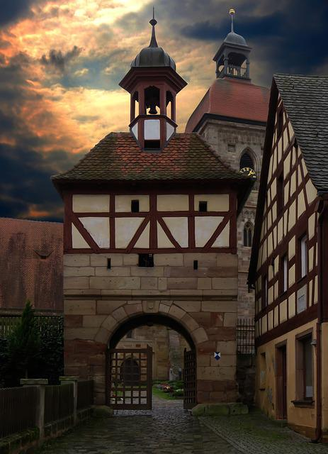 Middle Ages, Historically, Old Town, Tower, Church