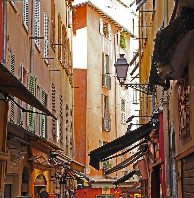 Impressions, Old Town, Alley, Nice, Shops, Awnings