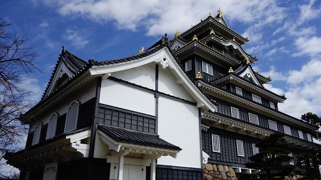Japan, Sengoku, Castle, Old Town, Okayama, Sky
