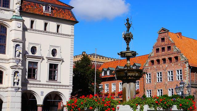 Lüneburg, Market-place, Fountain, Old Town