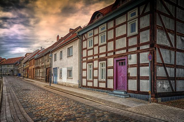 Nauen Germany, Old Town, Truss, Leave, Architecture