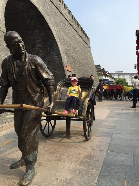 Yangzhou, Old Town, People Carting