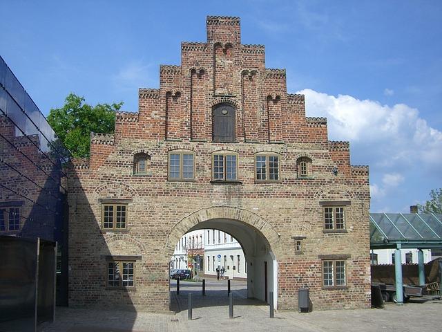 Flensburg, Nordertor, City Gate, Phänomenta, Old Town
