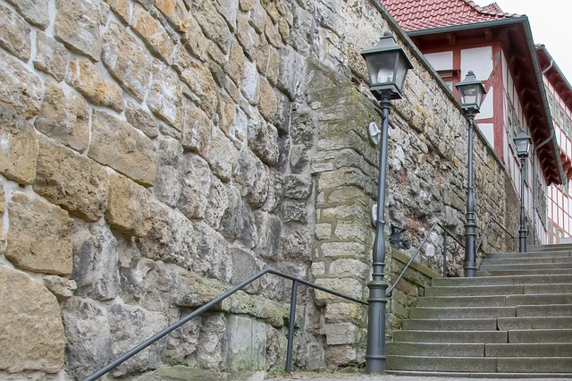 City Wall, Stairs, Architecture, Old Town, Stone