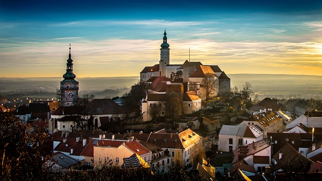 Mikulov, City, Castle, Old Town, Old Buildings, Tower