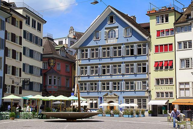 Zurich, Switzerland, Architecture, Old Town, Sun