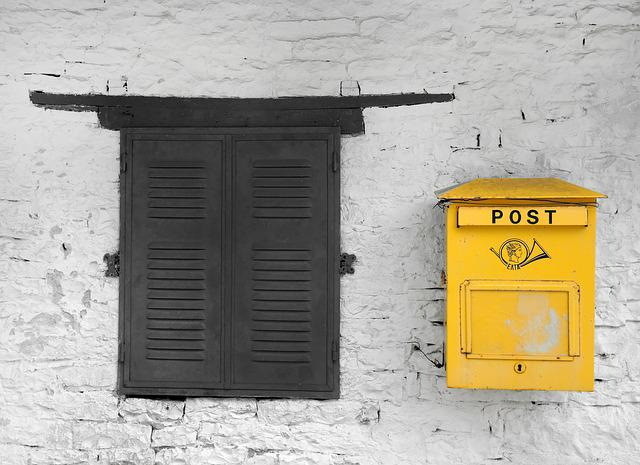 Post, Traditional, Postal, Mail, Box, Old, Mailbox