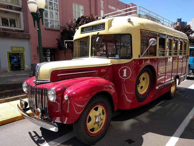 Bus, Old, Urban