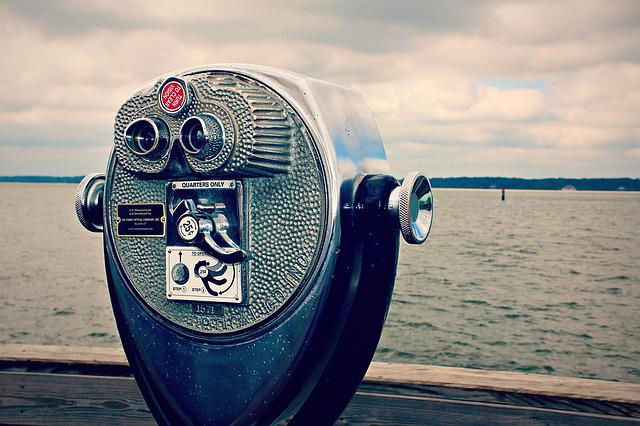 Coin, Operated, Binoculars, Old, Antique, Viewer