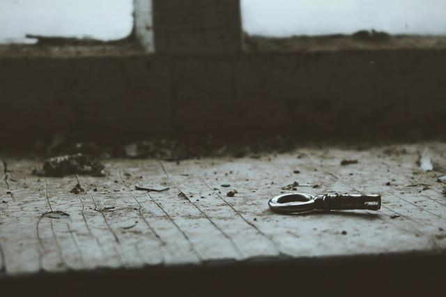 Background, Old, The Abandoned, Key, Window Sill