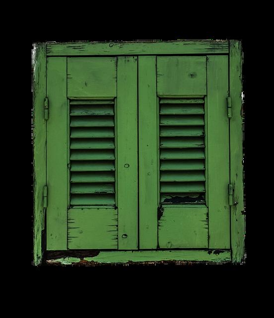 Window, Shutter, Green, Shutters, Old, Old Window