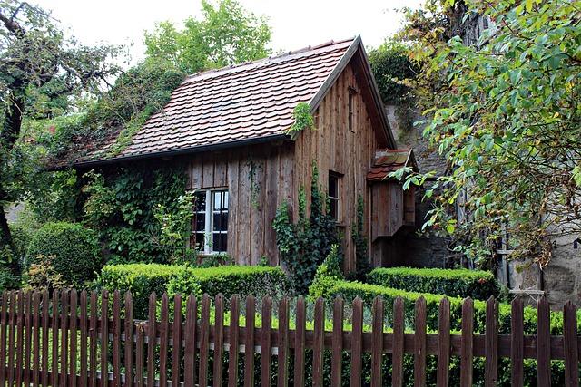 Old Wooden Hut, Garden Shed, Romantic, Garden, Cottage
