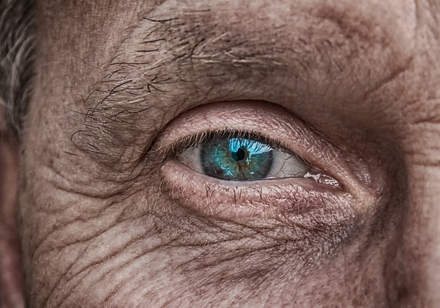 Skin, Eye, Iris, Blue, Older, Fold, Wrinkled Skin, Man