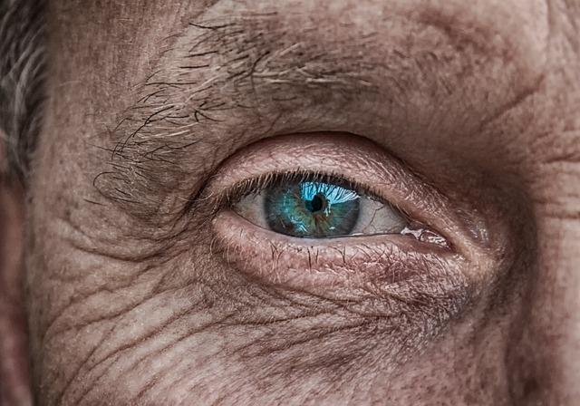 Skin, Eye, Iris, Blue, Older, Fold, Wrinkled Skin, Man