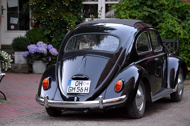 Technology, Oldtimer, Beetle, Vw, 1950, Black, Cismar