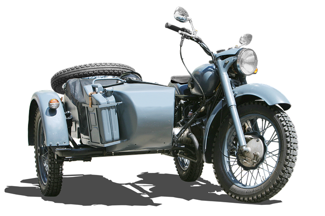 Bmw 500, Old Motorcycle Sidecar, Isolated, Oldtimer