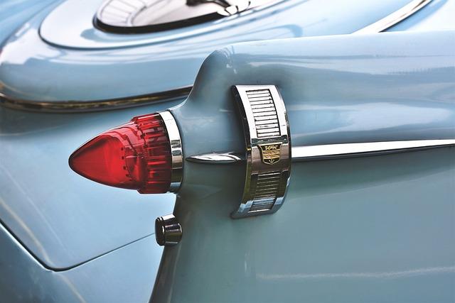 Auto, Oldtimer, Tailfin, Back Light, Classic