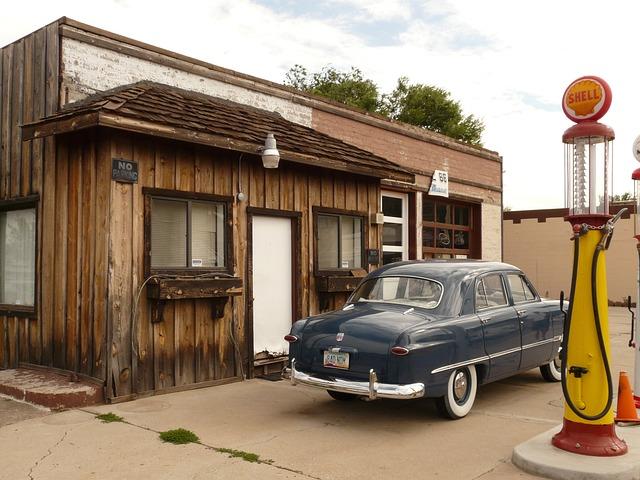 Petrol Stations, Auto, Oldtimer, Refuel, Gas Pump
