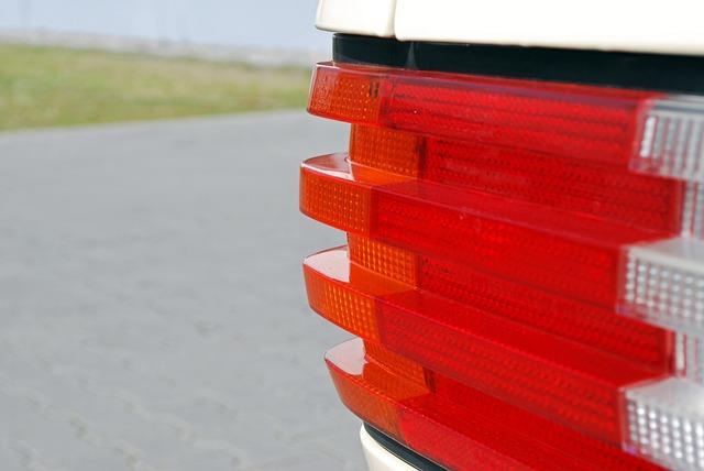 Auto, Mercedes, W126 Tail Light, Back Light, Oldtimer