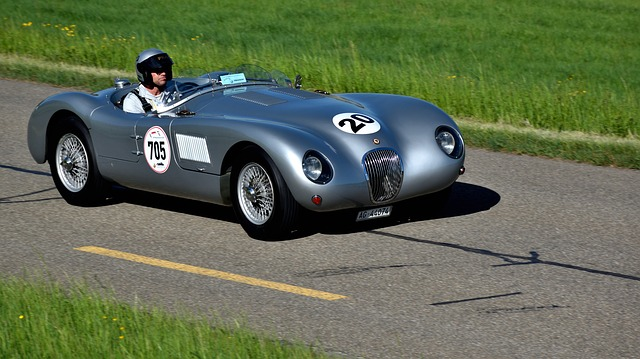 Racing Car, Hillclimb, Jaguar C-type Proteus, Oldtimer