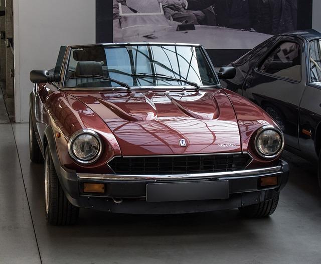 Auto, Fiat, Spider, Oldtimer, Compressor, Classic