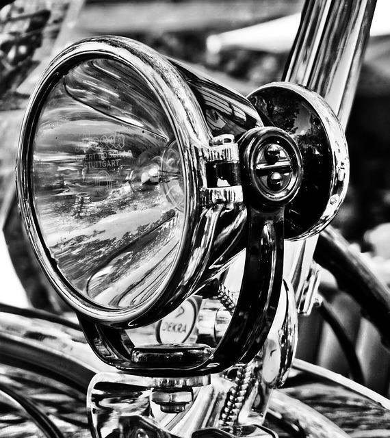 Vehicle, Chrome, Spotlight, Oldtimer, Old