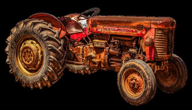 Tractor, Tractors, Massey, Ferguson, 55, Oldtimer