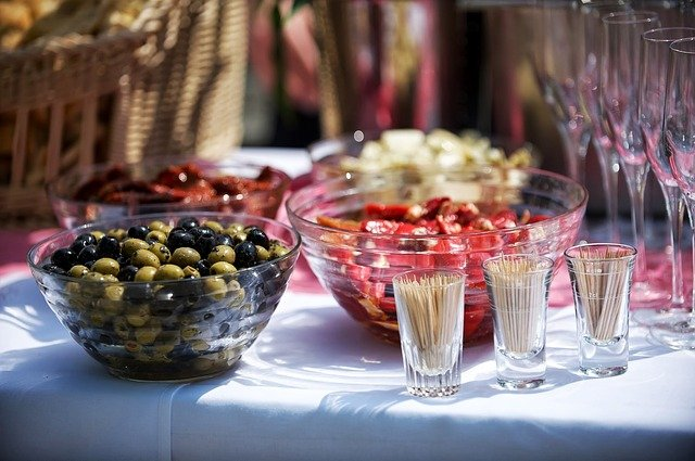 Catering, Buffet, Food, Olives, Restaurant, Cater