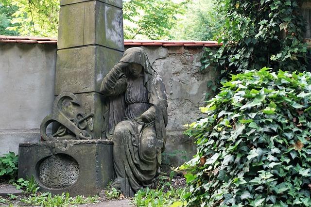 Olšany Cemetery, Prague, Czech Republic, Old