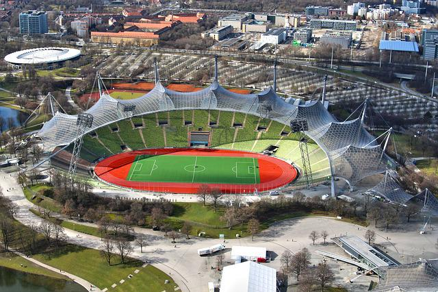 Olympic Stadium, Munich, Stadium, Architecture, Sit