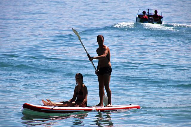 Sup, On The Water, Board, Para, Swim, Holiday, Water