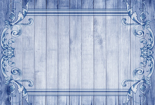 free photo border set mosaic digital pixel frame blue