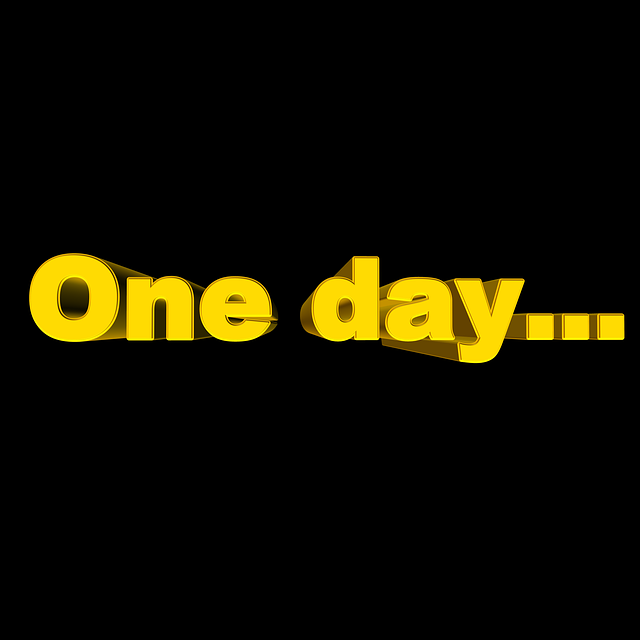Day, One Day, Font, 3d, Past, Forward, Distant, Once