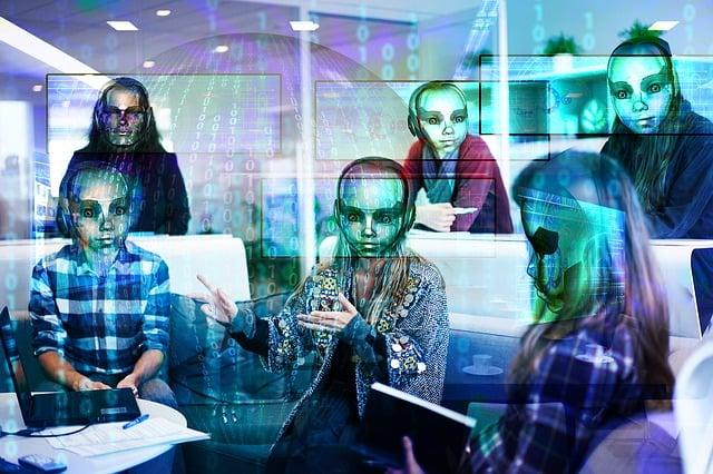 Workplace, Digitization, Robot, Binary, Null, One