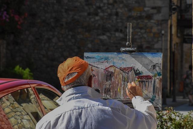 People, Adult, One, Outdoors, Street, Painter, Artist