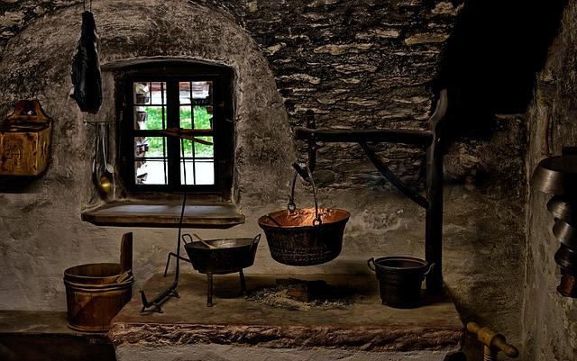 Kitchen, Old, History, Open Air Museum, Cooking, Food