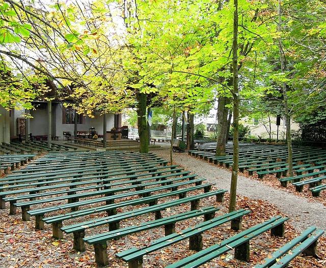 Benches, Bench, Podium, Open Air Podium, Stage