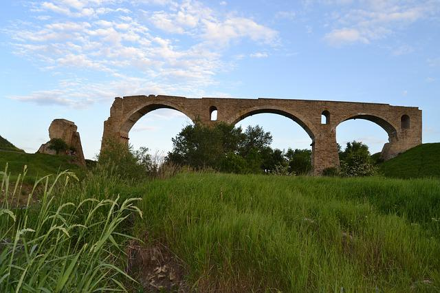 Stavropol, Bridge, Open Air, Country, Landscape, Ruins