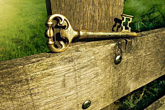 Key, Metal, Entrance, Gate, Open, Security, Wood