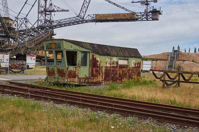 Open Pit Mining, Brown Coal, Old, Decay, Factory, Ruin