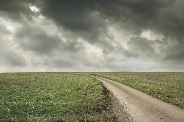 Landscape, Open, Road, Stormy Sky, Freedom