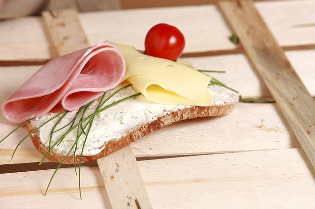 Open Sandwich, Bread, Bread And Butter, Cheese, Ham