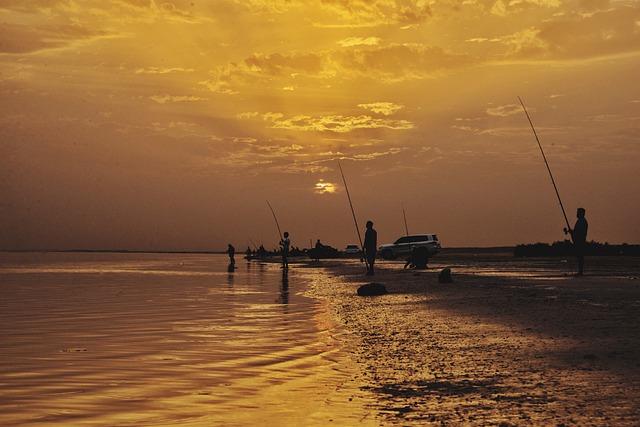 Fishing, Outdoor, Sunrise, Open Sea, Gulf Sea