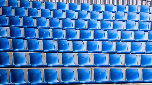Open Theater, Amphitheater, Seats, Empty, Blue