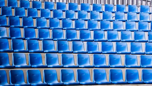 Open Theater, Amphitheater, Seats, Empty, Blue